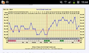 Fertility Charting Full Feb-Mar Cycle